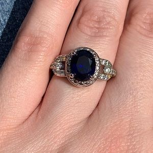 Sale ♻️ Blue Oval Silver Ring